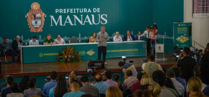 Mapa de Manaus é lançado para modernizar serviços