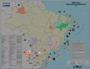 IBGE representa em mapas regiões geográficas de produtos e serviços certificados